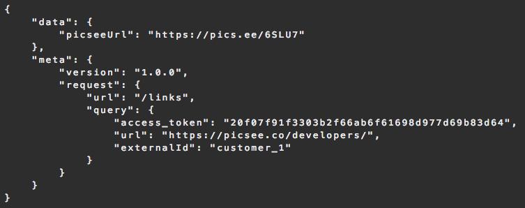 PicSee | Free URL Shortener API
